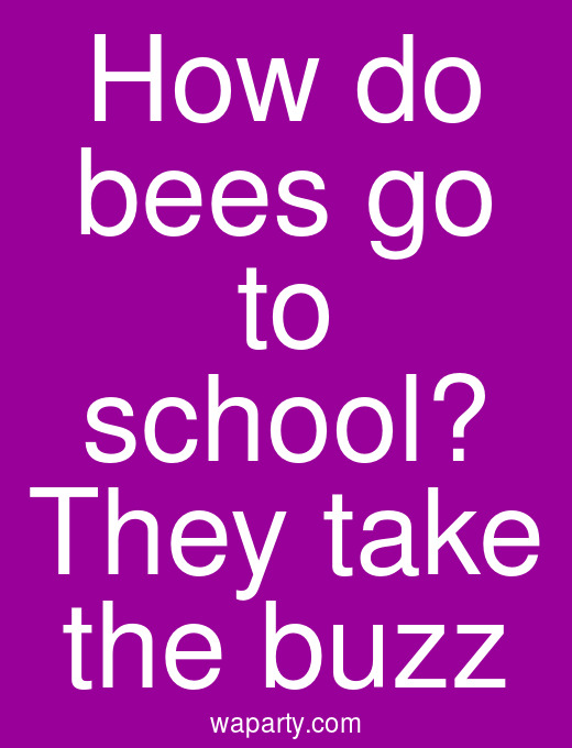 How do bees go to school? They take the buzz